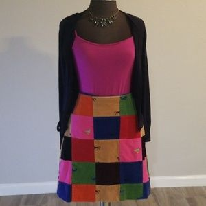*NWOT* LILLY PULITZER Patchwork Corduroy Skirt